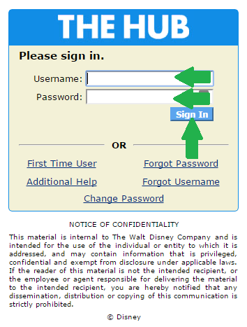 Disney Hub Login at enterpriseportal.disney.com