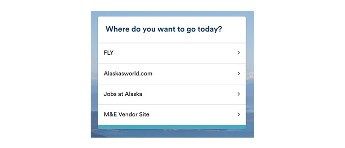 Alaska Airlines Paperless Employee Travel Login Button
