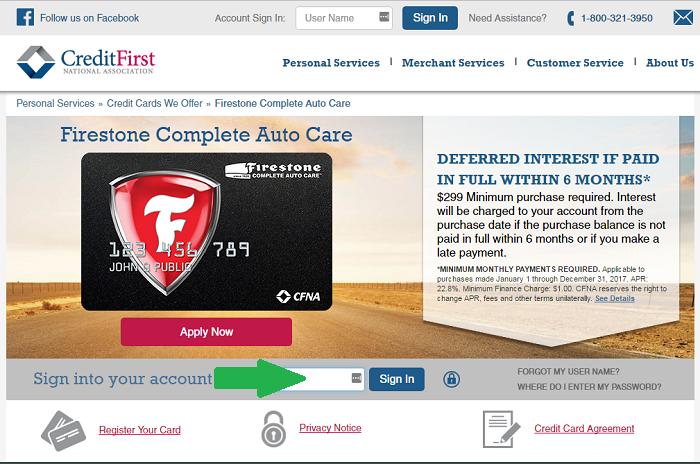 cfna com firestone login homepage