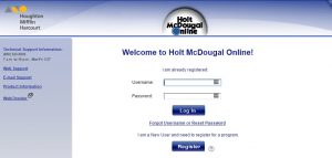 Holt McDougal Login at my.hrw.com