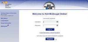 Holt McDougal login