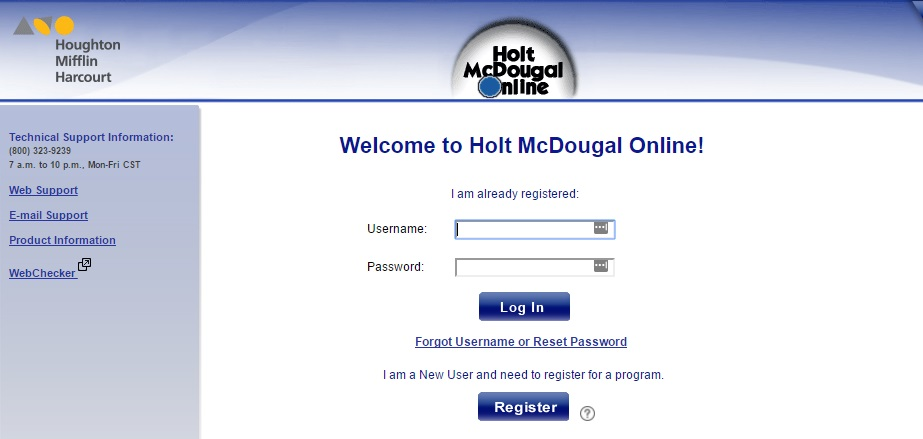 Holt McDougal login