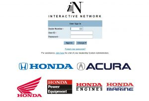 Honda Interactive Login at in.honda.com