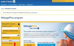 United Airlines Mileage Plus Login at united.com