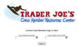 trader joes member portal login