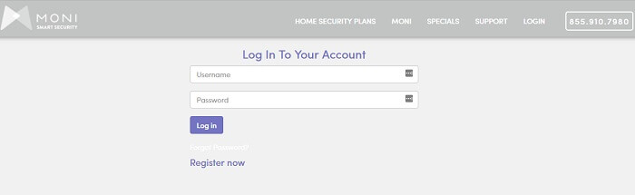 Monitronics Security Login
