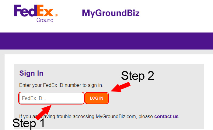 fedex ground login