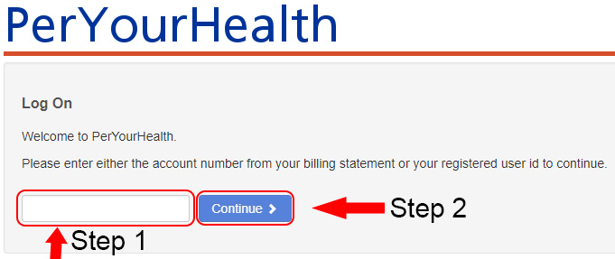 per your health login form