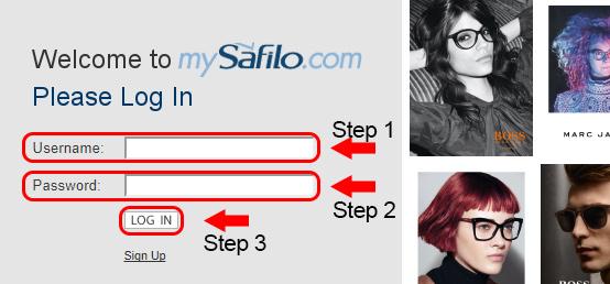 safilo eyewear login