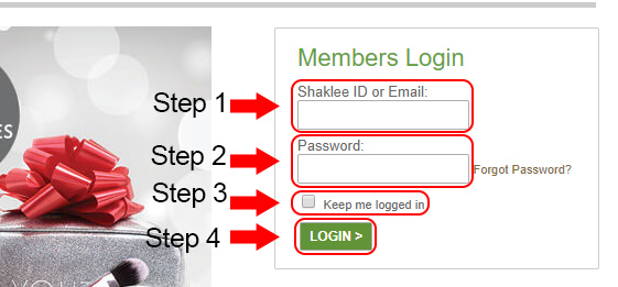 shaklee website login
