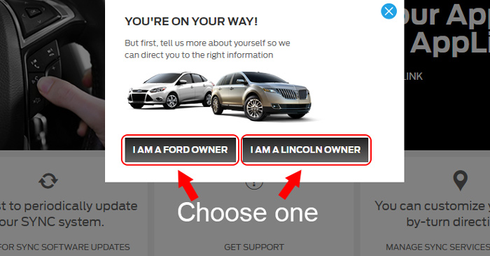sync my ride ford lincoln