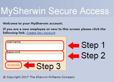 my sherwin williams login