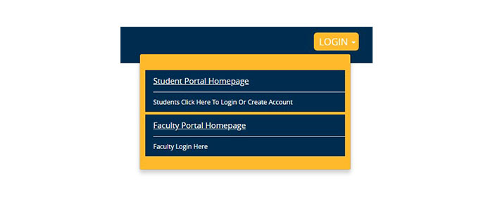 Campus Link Student Portal Login button