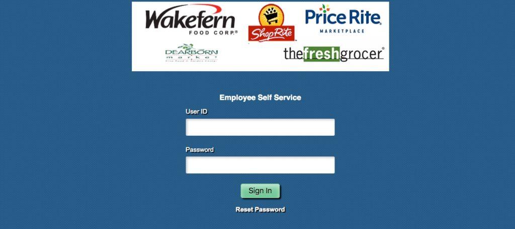Wakefern Employee Self service portal