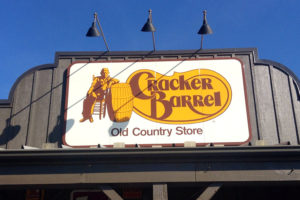 Cracker barrel front store